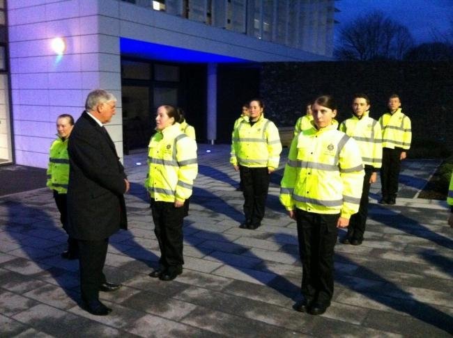 Police Boss Puts Cadets Through Their Paces