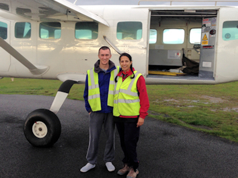 Sponsored Sky Dive Raises £700